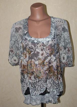 Красивая шифоновая блузка большого размера