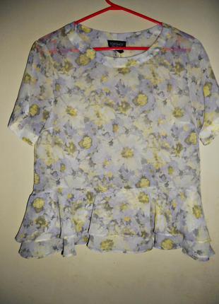 Блуза в цветной принт