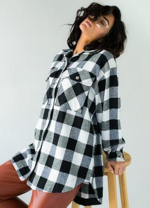 Классическая клеточная рубашка с карманами