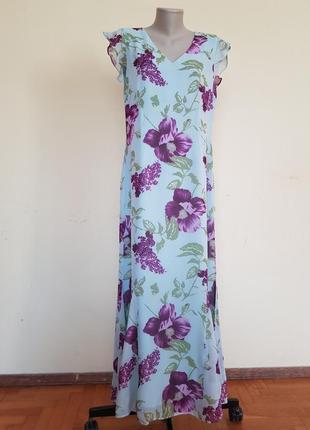 Красивое нежное лёгкое платье длинное