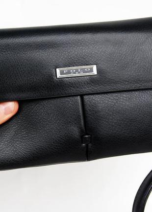 Мужская сумка-барсетка, клатч портмоне с кистевым ремнем polo бк1