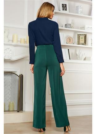 Широкие,зеленые брюки