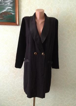 Удлиненный комбинированный пиджак платье все по 25