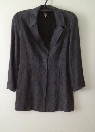 Удлиненный приталенный пиджак все по 25