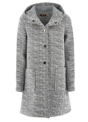 Пальто-букле с капюшоном, италия