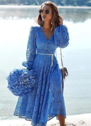 Платье миди в стиле zimmermann amari {разные цвета}