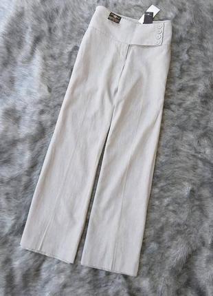 Новые льняные брюки палаццо с высокой посадкой из льна new look