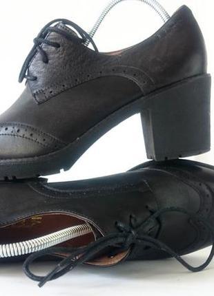 Туфли оксфорды bellе. натуральная кожа, литая резиновая подошва