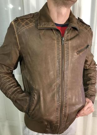 Кожаная куртка кожанка colin's
