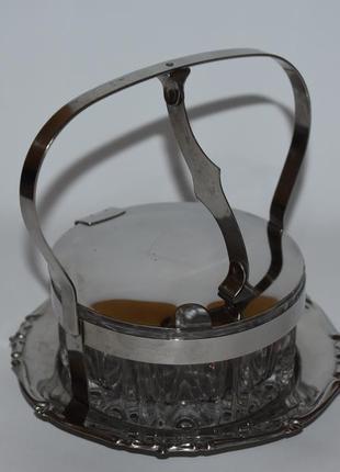 Красивая сахарница с открывающейся крышкой iwoxbeeu made in italy металл винтаж