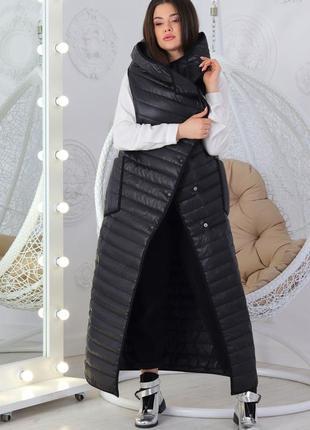 Женский черный жилет-одеяло