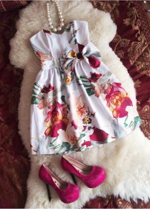 Платье бюстье орхидея
