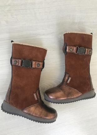 Стильные детские сапожки длинные сапоги ботинки ботильоны