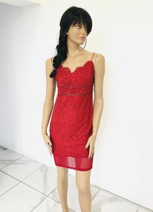 Pink boutique сексуальное кружевное платье из гипюра