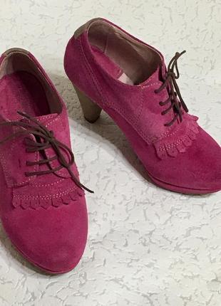 Замшевые туфли ботильоны