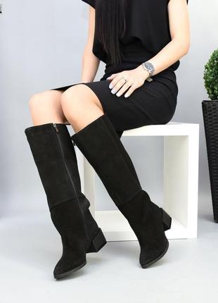 Замшеві чоботи жіночі осінь зима