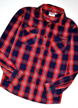 Lee cooper оригинал. крутая клетчатая рубашка. 11-12 лет.