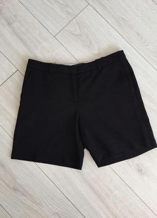 Чорні шорти, класичні шорти, трендові 2020 широкі шорти, черные прямые шорты.