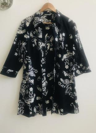 Накидка, удлиненная рубашка marks&spencer 100% cotton #47. 1+1=3🎁