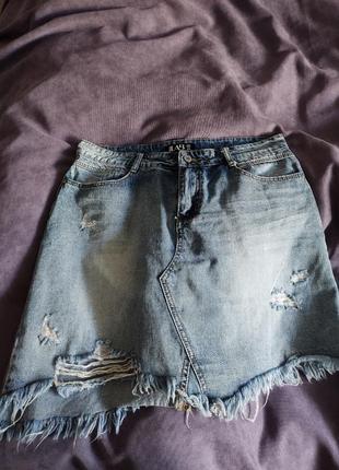 Юбка джинсовая мини answear