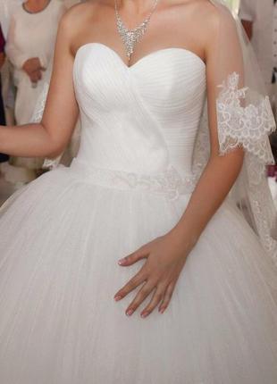Срочно! свадебное платье! xs/s , айвори, 2016 год