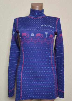 Шерстяной лонгслив woolmark moods of norway icebreaker /2892/