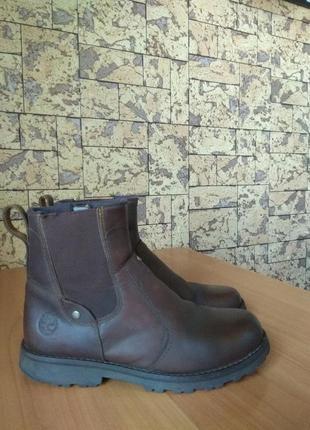 Ботинки челси чоботи кожаные timberland оригинал / 33р - стелька 21см
