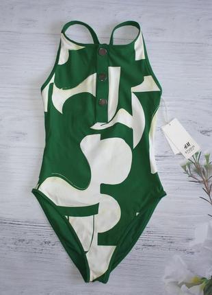 Суцільний купальник h&m studio one-piece swimsuit eur 34 xs