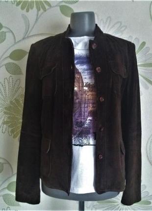 Куртка замшевая натуральная коричневая