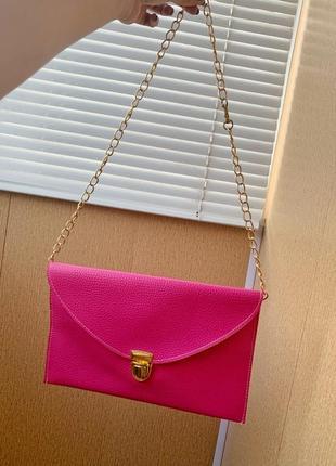 Сумка конверт клатч розовый