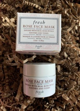 Маска для лица с лепестками роз fresh rose face mask
