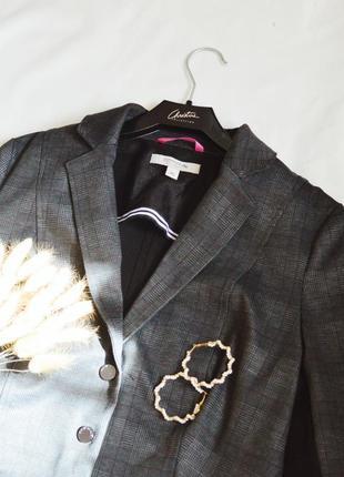Стильный пиджак в клетку пиджак жакет