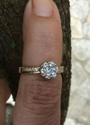 Золотое кольцо с бриллиантами 0.40 карат