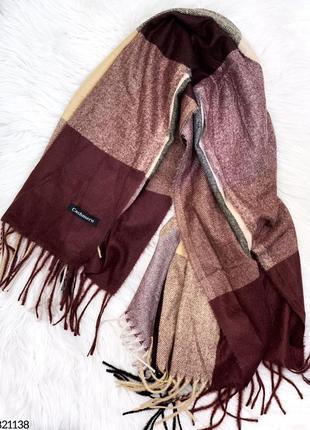 💥шикарный теплый платок кашемировый шарф с бахромой