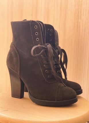 Полусапожки ботинки замша 100%