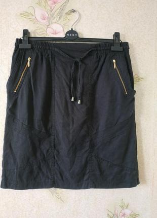 Чёрная женская юбка # юбка # юбочка # next
