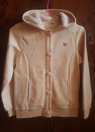 Шикарная курточка толстовка 10-11лет