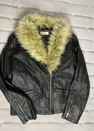 Куртка экокожа h&m