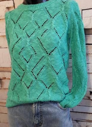 Ажурный джемпер свитер