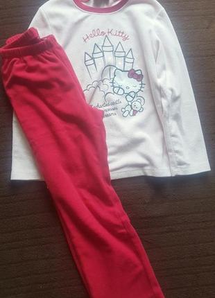 Флисовая пижама 8-9лет
