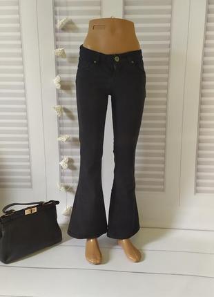 Джинсы брюки штаны чёрные, s
