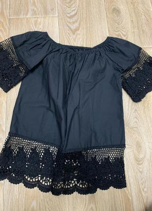 Шикарная блуза с кружевом