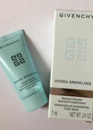 Givenchy маска сублимированная увлажняющая для лица hydra sparkling