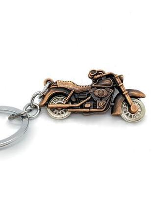 "🏍🤘 брелок для ключей харлей дэвидсон harley-davidson ""мотоцикл"" бронза"