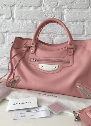 Balenciaga city оригинал сумка в идеале розовая