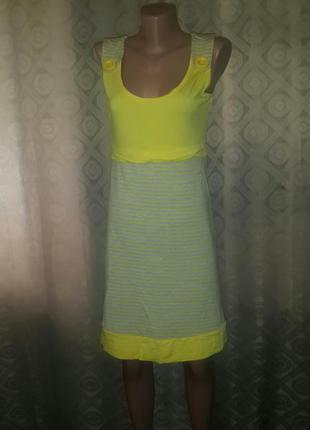 Яркий трикотажный сарафан(платье),размер m.