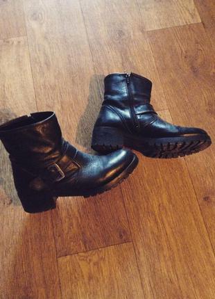 Черные кожаные ботинки bronx, intertop
