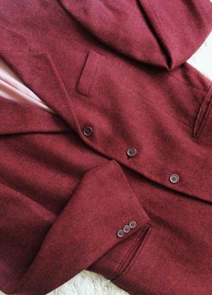 Шерстяной пиджак блейзер на осень, пальто, полупальто