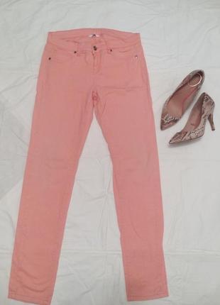 Срочно до 10.06! розовые джинсы-штаны на лето р.12-14