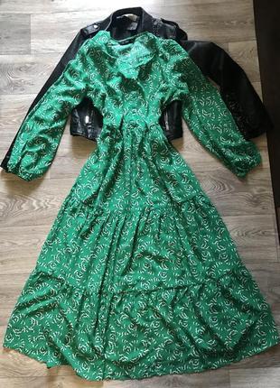 Платье миди от zara хлопковое